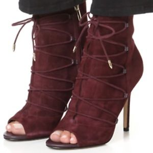 NWOT-Sam Edelman Open Toe & Lace-Up Booties